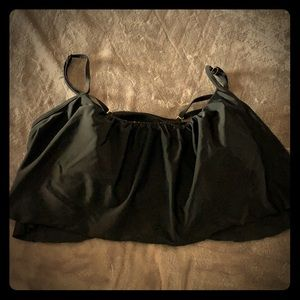 Target bikini top, black, medium